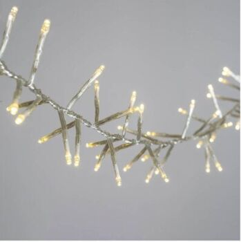 5 Sets of 20 LED Plain Warm White Bulb Battery Powered String Lights Christmas Gift Home Wedding Party Bedroom Decoration Table Centrepiece
