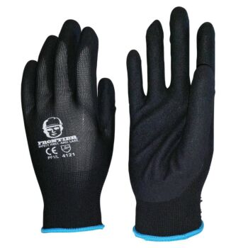 Frontier Foam Touch Gloves Nitrile Black Small**Was Sand** (Frmicrfmnbk000S)