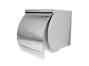 Dolphy Stainless Steel Single Toilet Roll Holder with Shelf