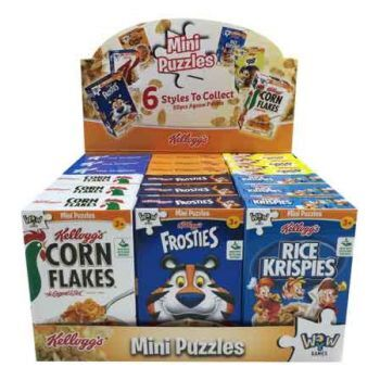 Mini Puzzle Kellogg's 1pk assorted ( ONLY SOLD in Display of 18 )