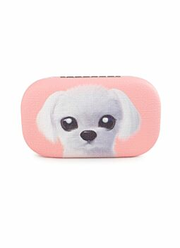Quality PU Covered & Lined Trinket Case Dog Melon