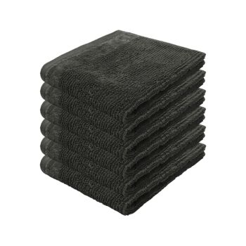 Costa 6pack Face Washer 33x33cm Pewter
