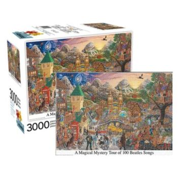 A Magical Mystery Tour of 100 Beatles Songs 3000pc Puzzle