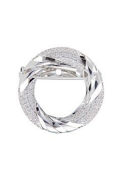 Barcs Australia Women's Silver Plated Scarf Pin And Brooch