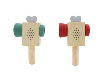PRICE FOR 2 ASSORTED CALM & BREEZY WOODEN VIDEO RECORDER PRISM