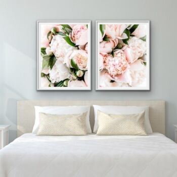 Peony Bouquet - Two Piece Pink Peony Photographic Print Wall Art