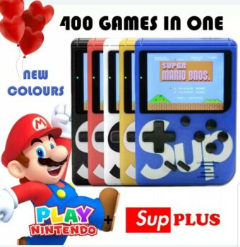 400 In 1 SUP Portable Video Game Handheld Retro Classic Gameboy Console (Black)