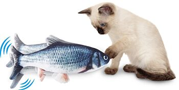 Wiggly Fish Interactive Cat Toy, A.S.O.T.V, USB rechargeable