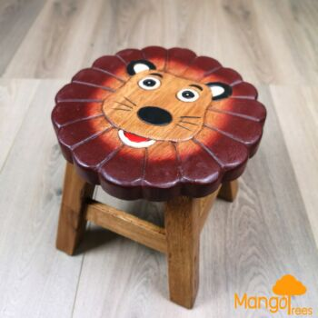 [Mango Trees] Wooden Kids Stools Children Step Stool Toddler Chair Solid Timber