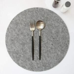 THE JOINERY   Place Mat Set of 4 - Rectangle - Grey