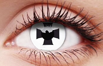 Black Cross Coloured Contacts