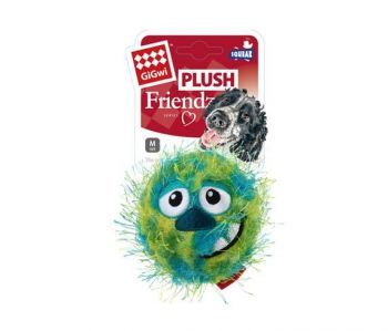 GIGWI CRAZY BALL WITH SQUEAKER GREEN BLUE MEDIUM
