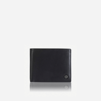 Large Bifold Wallet With Coin  Soft Black