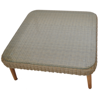 VERMONT - High Quality Outdoor Wicker Timber Square Coffee Table