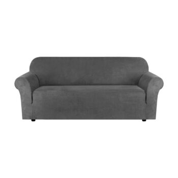 Velvet Sofa Cover Form Fitted Super Stretch Couch Cover Slipcover