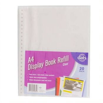 Display Book Refill Pockets A4 20 Pack