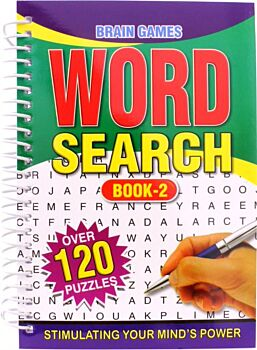 Book Word Search Spiral Puzzle Book A5 144pg