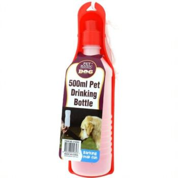 Pet Travel Drink Bottle 550ml - 2 x Assorted Colours Blue/Red