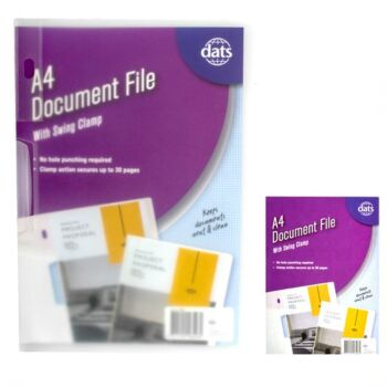 Document File A4 with Swing Clamp Clear