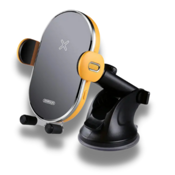 Joyroom Wireless Charger Universal Mobile Phone Car Mount 15W Airvent & Dashboard Combo Yellow