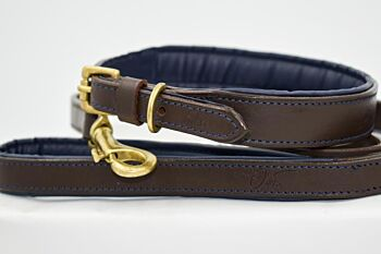 Classic Genuine Leather Collar and Leash