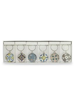Wine Charms Fresh Mosaic Set Of 6 Beautifully Gift Boxed Great gift idea