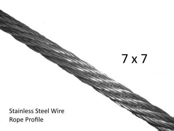 1.5mm 7x7 G316 Stainless Steel Wire Rope