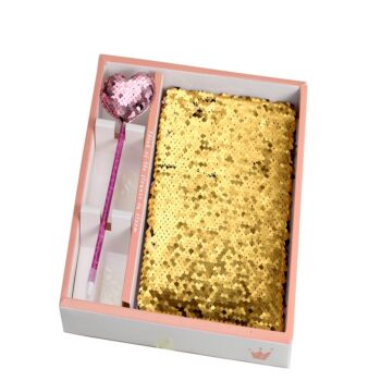 Sequin Notebook Combo gift pack (with pen) - 10 in a box