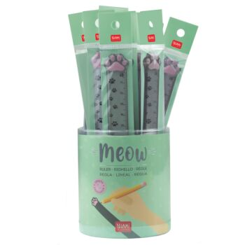 Meow - Ruler - Display Pack of 20 Pieces