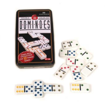 Dominoes Double 6 In Tin Board Game