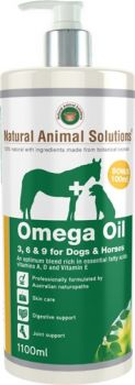 NATURAL ANIMAL SOLUTIONS OMEGA 3 6 & 9 OIL DOGS HORSES 1000ML