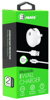 MINI USB WALL CHARGER MICROUSB (for Samsung S7 & below)