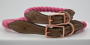 The Cotton Candy Rope Collar & Leash Collection