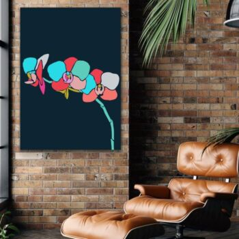 A Botanical Rainbow / Print Two (Orchid) -  Colourful Jungle Canvas or Art Print Set