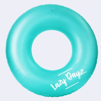 Lazy Dayz Inflatable Swim Ring - Teal