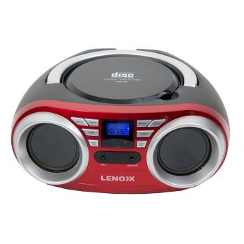 TOP LOADING CD PLAYER WITH FM RADIO - RED