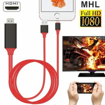 For iPhone to HDMI Cable Digital TV AV Adapter For iPhone 12 Pro 11 X XS MAX 8 7