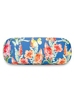 Beautiful Cloth Covered & Lined Glasses Case Tropical Butterflies