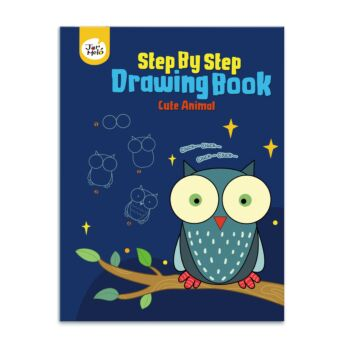 DRAWING BOOK-CUTE ANIMAL (STEP BY STEP)