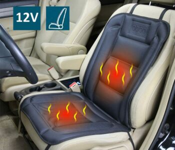 12V 45W Heated Seat Cushion Cover with Lumbar Support