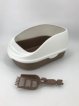 Large Portable Cat Toilet Litter Box Tray with Scoop