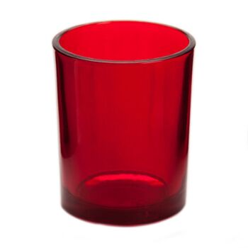 24 Pack - Deep Blood Red Opaque Glass Table Tealight Candle Holder Cup Jar Event Decoration